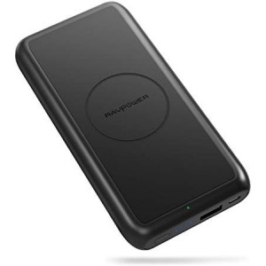 RAVPower 10000mAh Wireless Charging Portable Charger Black
